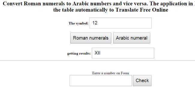 romerska siffror omvandlare